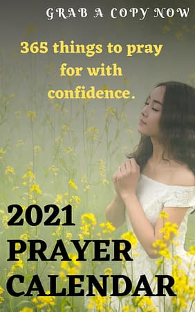 2021 prayer calendar/guide